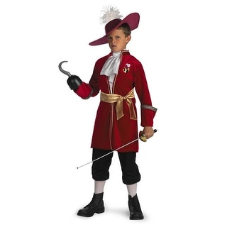 Disguise Disney Captain Hook Classic Child Costume - Red