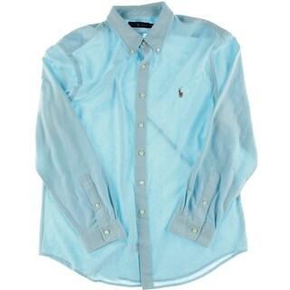 Polo Ralph Lauren Mens Cotton Long Sleeves Button-Down Shirt - XXL