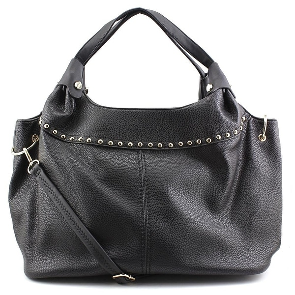 MG Collection Adora Studded Synthetic Shoulder Bag - Black