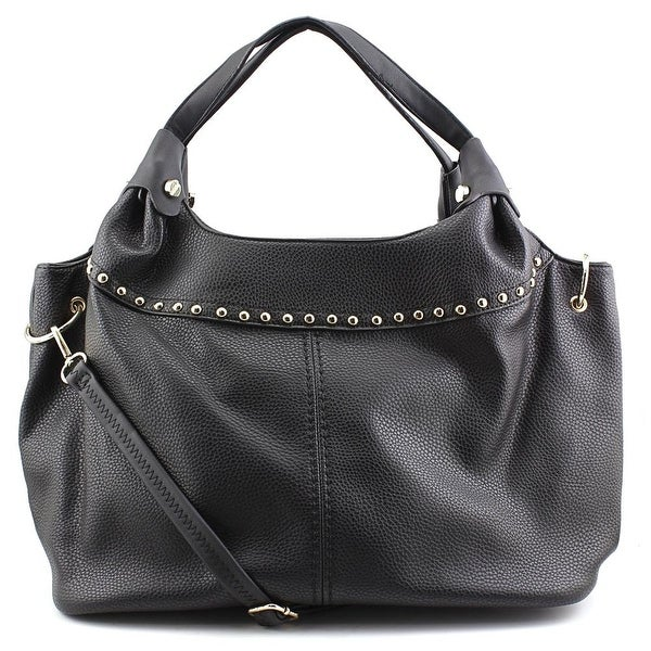 MG Collection Adora Studded    Synthetic  Shoulder Bag - Black