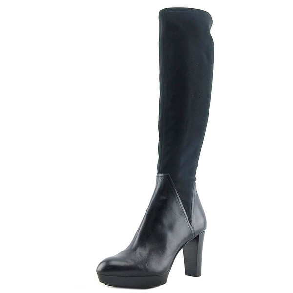 Donald J Pliner Echoe Women Round Toe Synthetic Black Knee High Boot