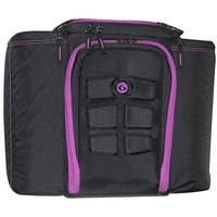 6 Pack Fitness Originator 500 Meal Management Bag - Black/Pink