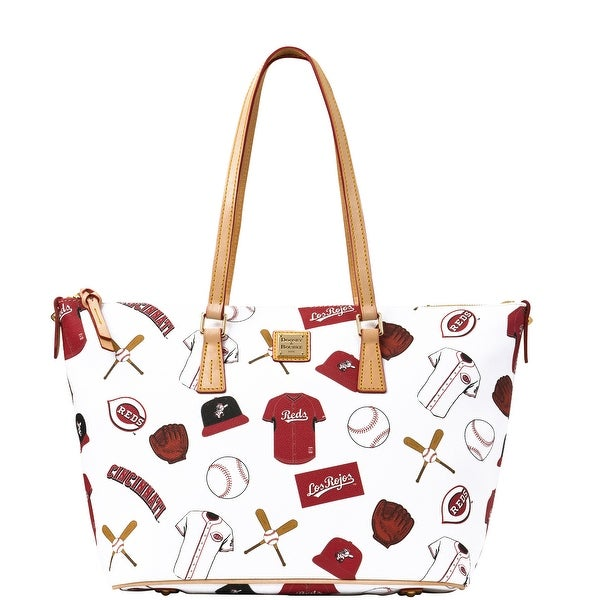Dooney & Bourke MLB Reds Zip Top Shopper (Introduced by Dooney & Bourke at $248 in Jan 2015) - White