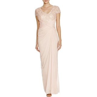 Adrianna Papell Womens Evening Dress Lace Sequined - 8