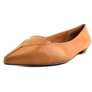 Nine West Timewarp Women  Pointed Toe Leather Tan Flats