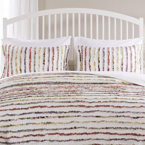 Greenland Home Fashions Bella Ruffle Pillow Shams set