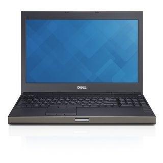 Dell Precision M4800 15.6-in Refurb Laptop - Intel i7 4900MQ 4th Gen 2.8 GHz 8GB 256GB SSD DVD-RW Win 10 Pro 32-Bit - Webcam