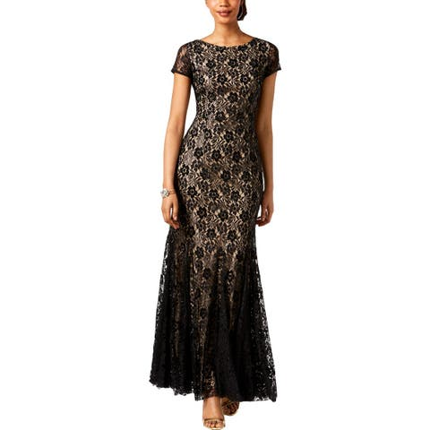 Adrianna Papell Womens Formal Dress Sequined Ombre
