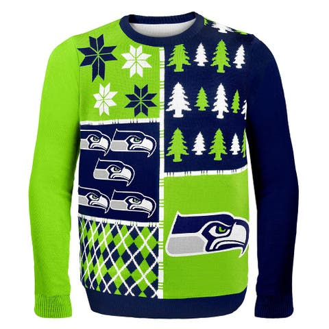 NFL Mens Green Size 2XL Seattle Seahawks X-Mas Crewneck Sweater