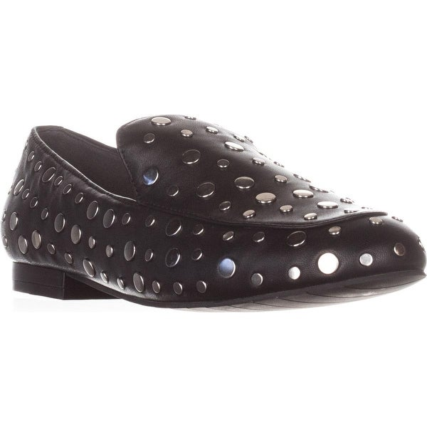 Kenneth Cole New York Westley2 Flat Loafers, Black Leather - 7.5 us / 38 eu