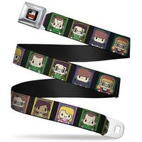 The Big Bang Theory Full Color Black White Red Big Bang Theory Chibi Seatbelt Belt