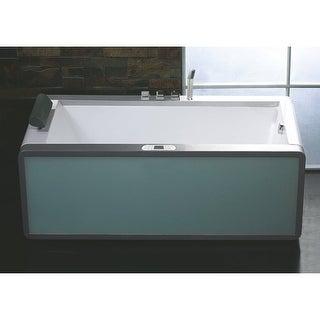 "Eago AM151ETL-R 35-1/2"" Soaking Bathtub for Free Standing Installations with Rig"