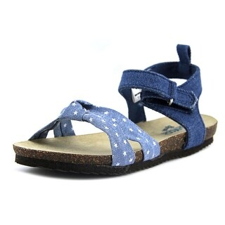 Osh Kosh Sage Toddler Open-Toe Canvas Blue Slingback Sandal