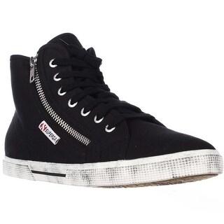 Superga 2224 Cotdu Side Zip Fashion Sneakers - Black