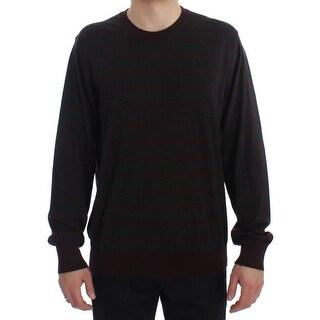 Dolce & Gabbana Dolce & Gabbana Bordeaux Gray Cashmere Pullover Sweater