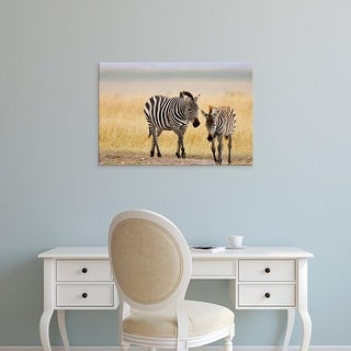 Easy Art Prints Joe Restuccia III's 'Zebras' Premium Canvas Art