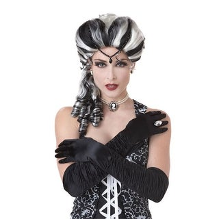 Black/White Victorian Vampire Wig for Halloween Costume - Standard - One Size