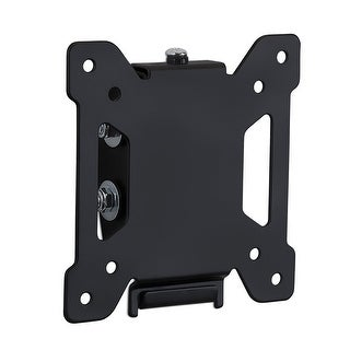 """Mount-It! Tilting TV and Computer Monitor Wall Mount Bracket Fits 24, 27, 30 and 32"""" Screens Up to VESA 100 Black MI-203T"""