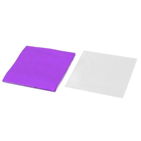 Wedding Aluminum Foil Chocolate Sugar Packing Paper Purple 3 x 3 Inch 100pcs