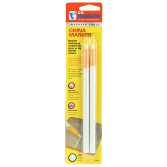 C. H. Hanson 10262 China Marker Pencil, White, 2-Pack