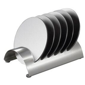 Visol VAC347 Julian Stainless Steel Round Coaster Set with Holder