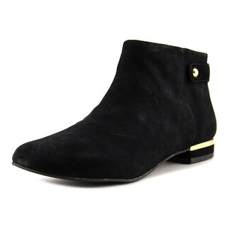 Seychelles Fauna Women  Round Toe Suede Black Ankle Boot