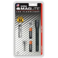 Maglite SP32016 Mini LED 2AAA Flashlight, Black, 84 Lumens