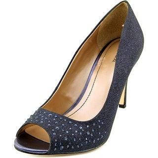 Style & Co Monaee Women Peep-Toe Canvas Black Heels