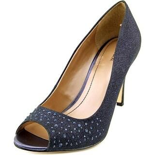 Style & Co Monaee Women W Peep-Toe Canvas Blue Heels