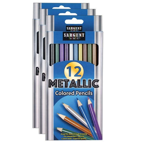 Sargent art (3 ea) metallic colored pencils 227231bn