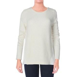 Elie Tahari Womens Plus Persia Wool Long Sleeves Sweater