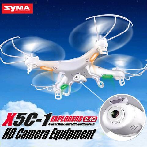 Syma X5C-1 Explorers 2.4G 4CH 6-Axis Gyro RC Quadcopter Drone HD Camera LCD RTF White