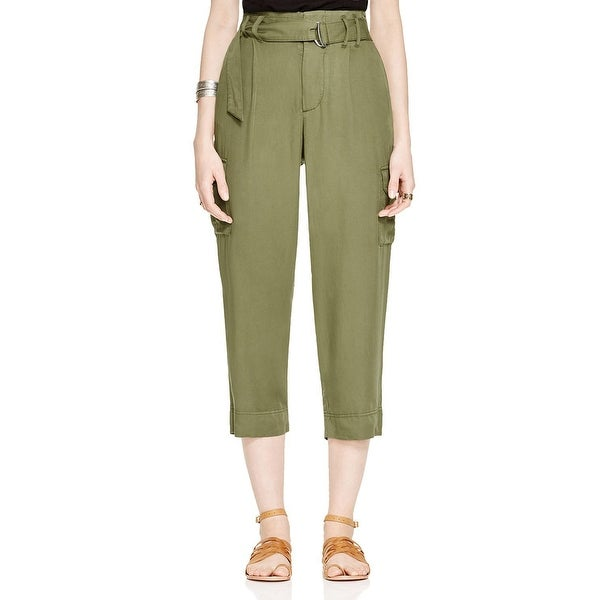a601ca8037 Shop Free People NEW Army Green Women's Size 2 Belted Cropped Cargo ...