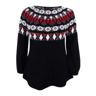 Style & Co. Women's Plus Space-Dyed Fair Isle Sweater