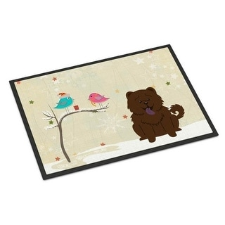 Carolines Treasures BB2613MAT Christmas Presents Between Friends Chow Chow Chocolate Indoor or Outdoor Mat 18 x 0.25 x 27 in.