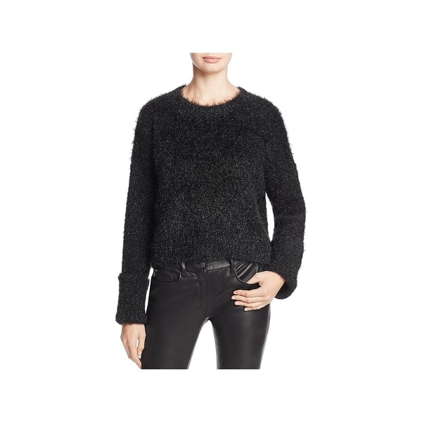 e88ec03b40eae Shop Kenneth Cole New York Womens Pullover Sweater Metallic Cropped ...