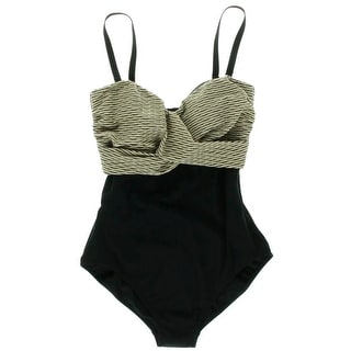 Gottex Womens Stretch Metallic One-Piece Swimsuit - 12