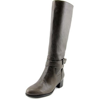 Nine West Vani Women Round Toe Leather Gray Knee High Boot
