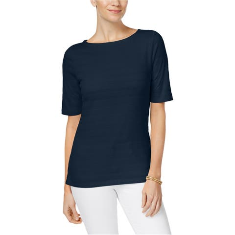 Charter Club Womens Perfectly Soft Pima Basic T-Shirt