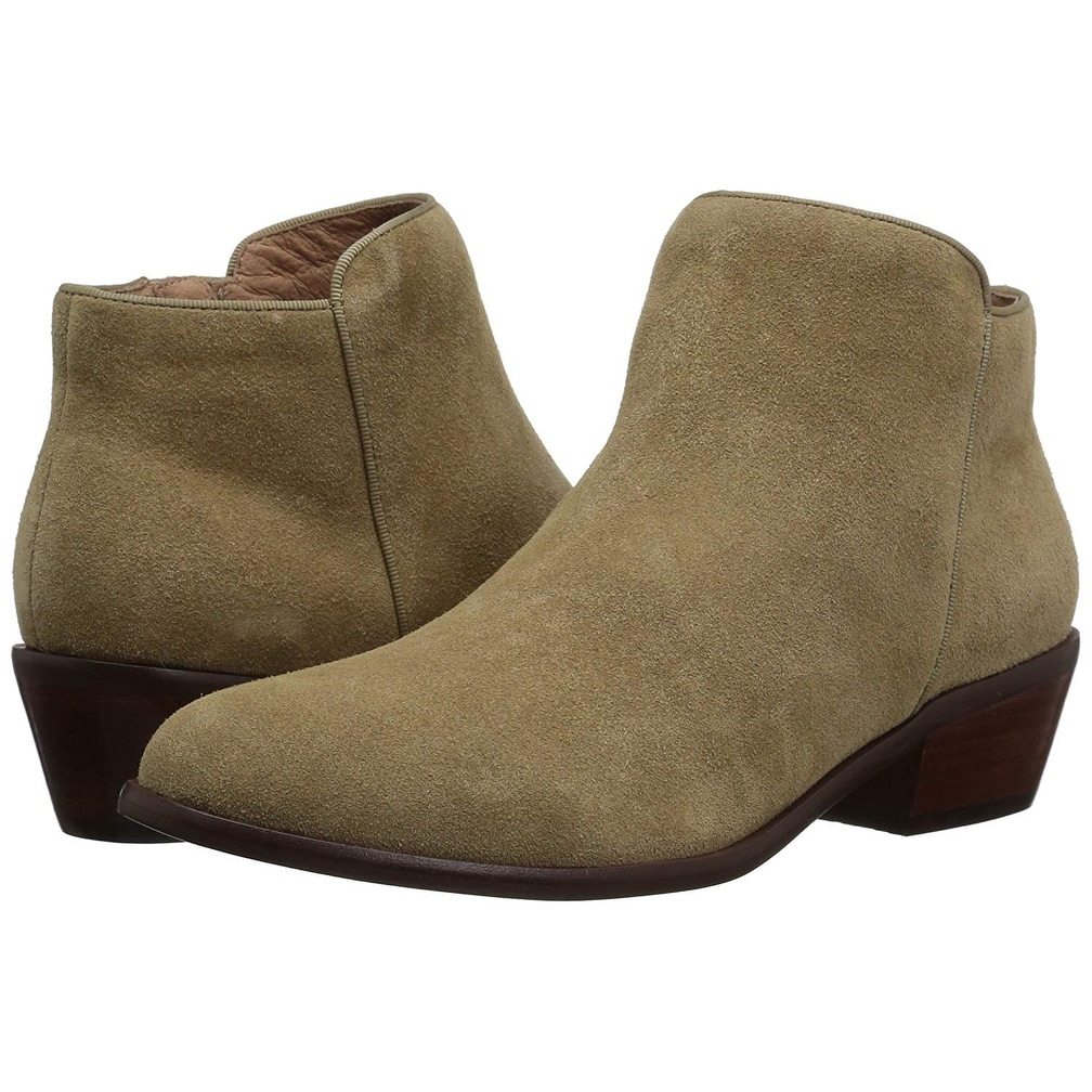 AN Womens Chunky Heels Zipper Imitated Suede Boots DKU02205