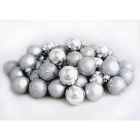 Silver Splendor Shatterproof 4-Finish Christmas Ball Ornaments