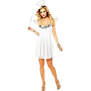 Goddessey Babydoll Angel Adult Costume (Silver) - White