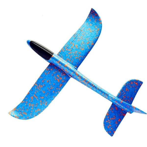 Foam Throwing Glider Airplane Aircraft Toy Hand Airplane Model - 18.9x18.9inch. Opens flyout.