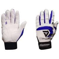 Akadema White/Royal Blue Professional Batting Gloves Small