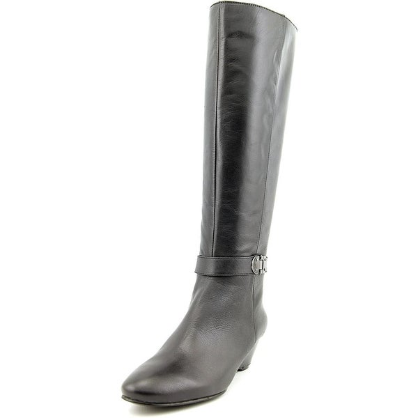 Bandolino Adanna Wide Calf Round Toe Leather Knee High Boot