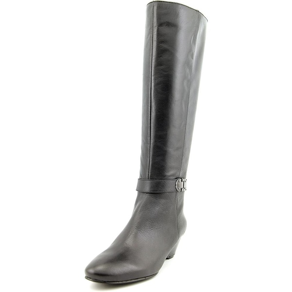 Bandolino Adanna Wide Calf   Round Toe Leather  Knee High Boot