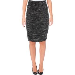 Nine West Womens Straight Skirt Textured High Waist