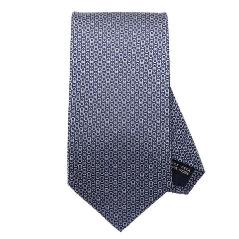 Salvatore Ferragamo Mens Navy Gancini Neck Tie