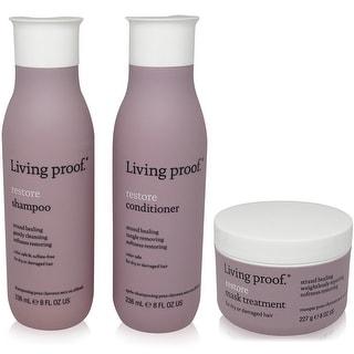 Living Proof Restore -3 Item Value Set - 1 Shampoo(8oz),1 Conditioner (8oz),1  Mask