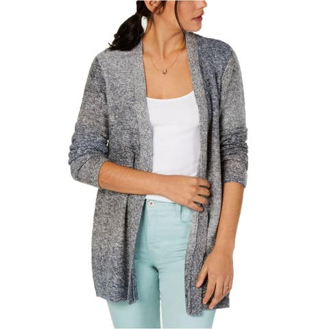 Style & Co Women's Ombré Open-Front Cardigan Gray Extra Large